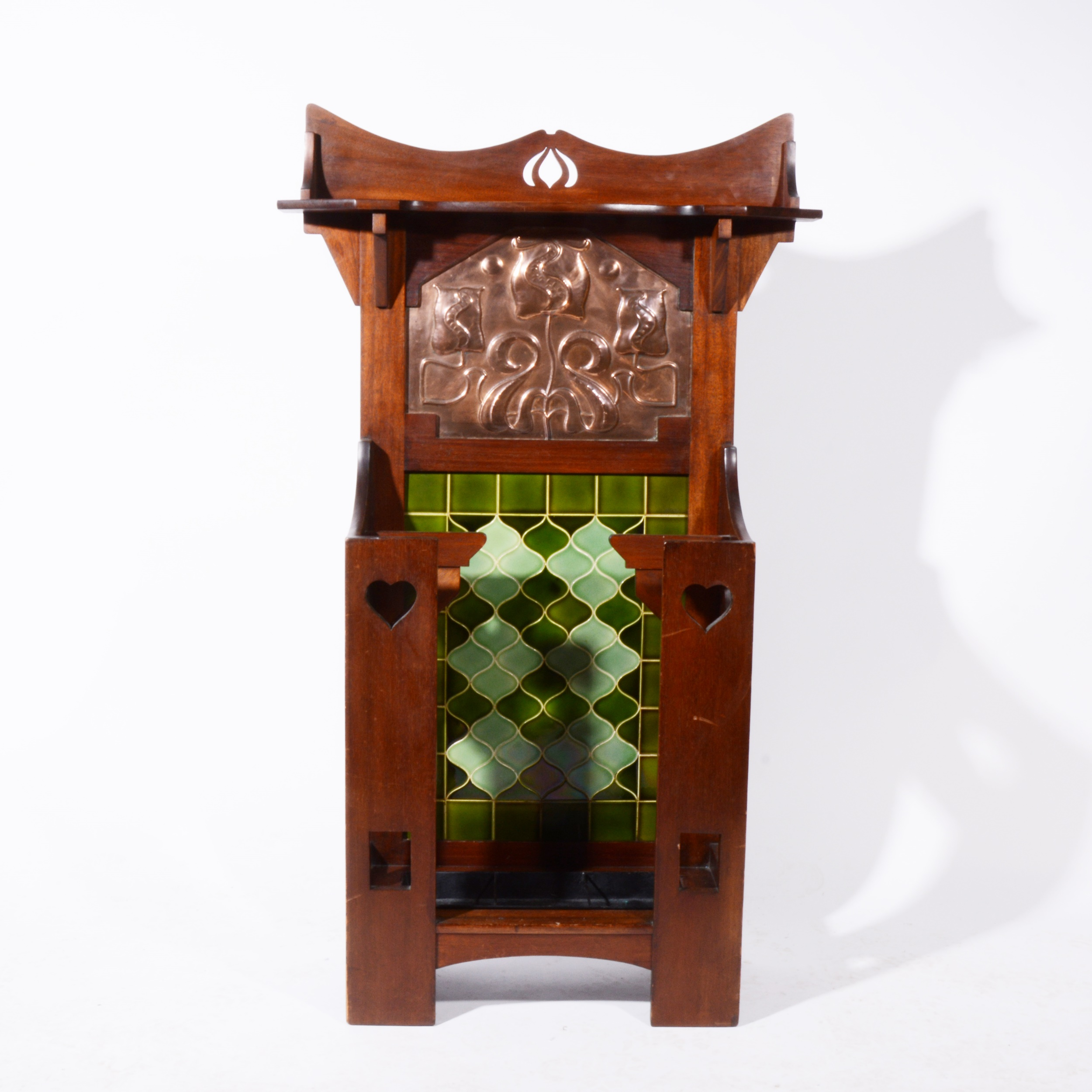 A, English Art Nouveau hall stand by Norman & Stacey