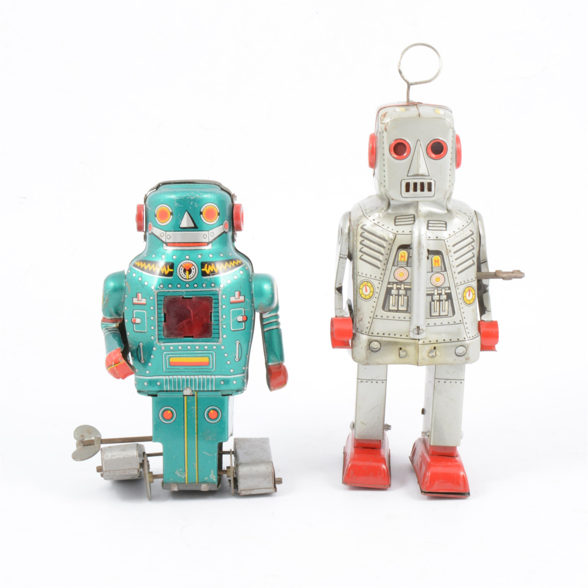 Japanese tin-plate clockwork robots