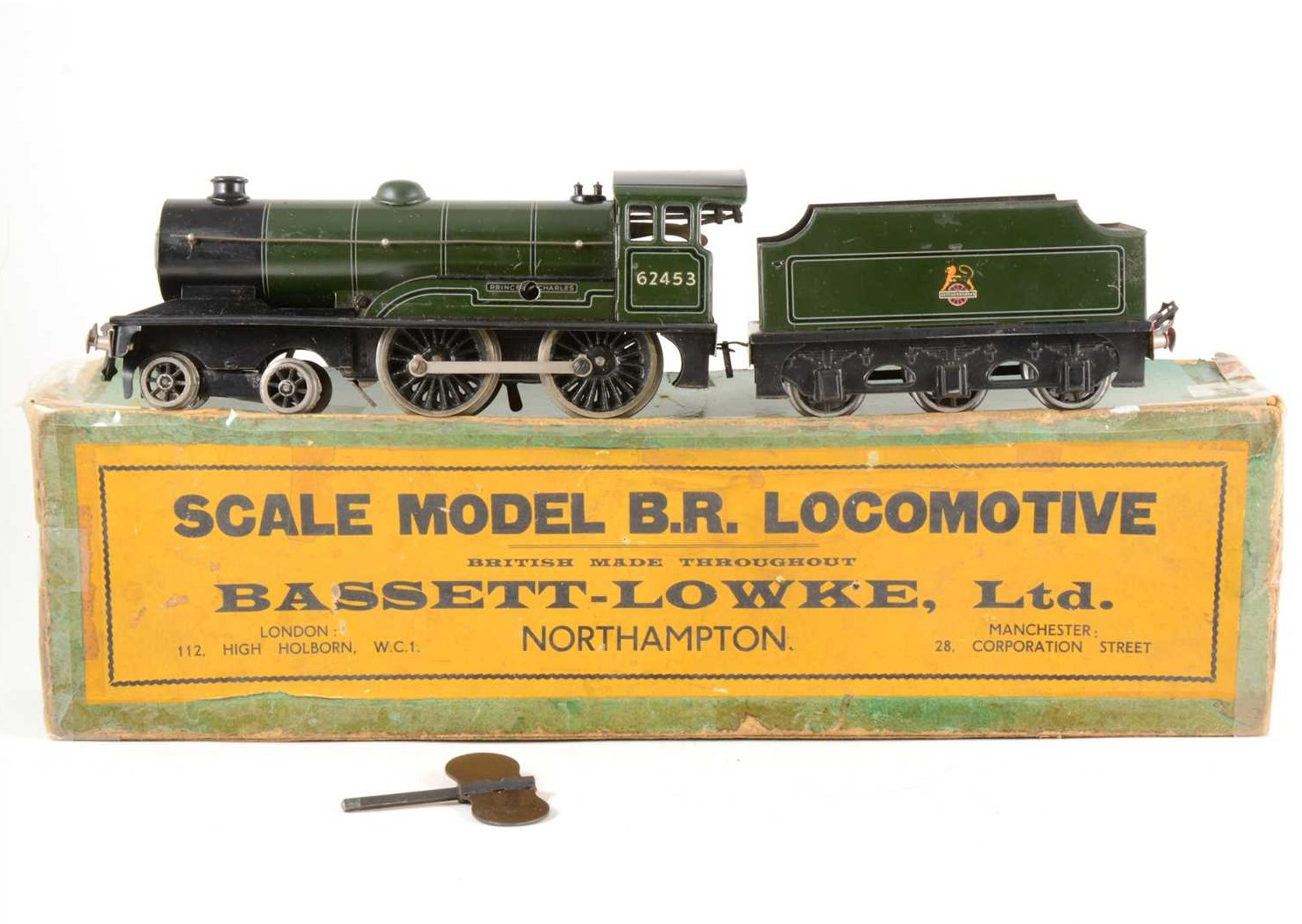 "Bassett-Lowke O gauge locomotive and tender, ""Prince Charles"""