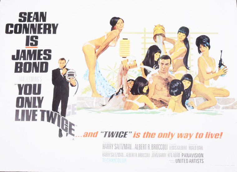 Sean Connery You Only Live Twice poster