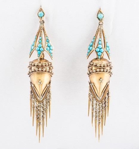 Victorian Etruscan earrings