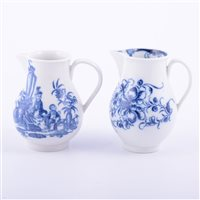 Lot 3 - First Period Worcester porcelain blue and...