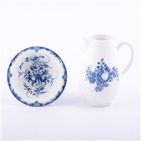Lot 5 - First Period Worcester porcelain blue and...