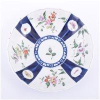 Lot 8 - First Period Worcester porcelain circular dish,...