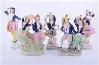 Lot 15 - Staffordshire group, Jules Perrot as Diavolino,...