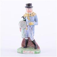 Lot 52 - Ralph Salt earthenware figure, Paul Pry,...
