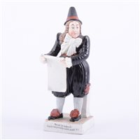 Lot 54 - Staffordshire figure, John Liston as Van...