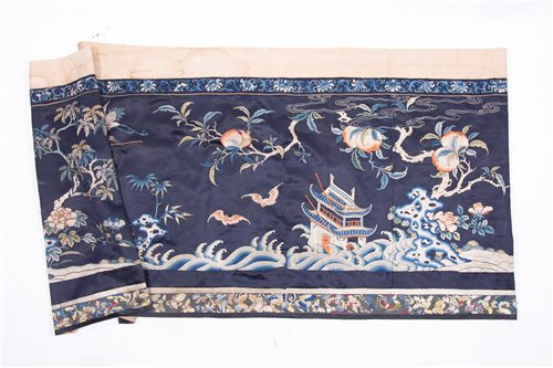 Lot 72-A 19th century hand embroidered wall hanging,...