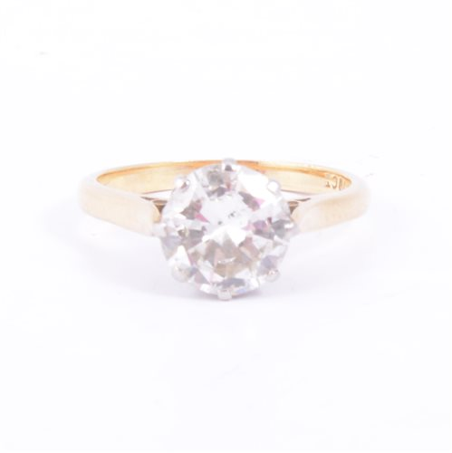 Lot 171 - A diamond solitaire ring, the brilliant cut...