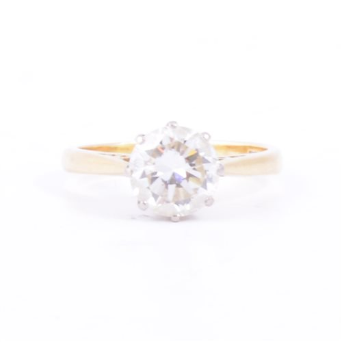 Lot 172-A diamond solitaire ring, the brilliant cut stone ...