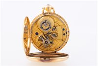 Lot 222-An 18 carat yellow gold open face pocket watch,...
