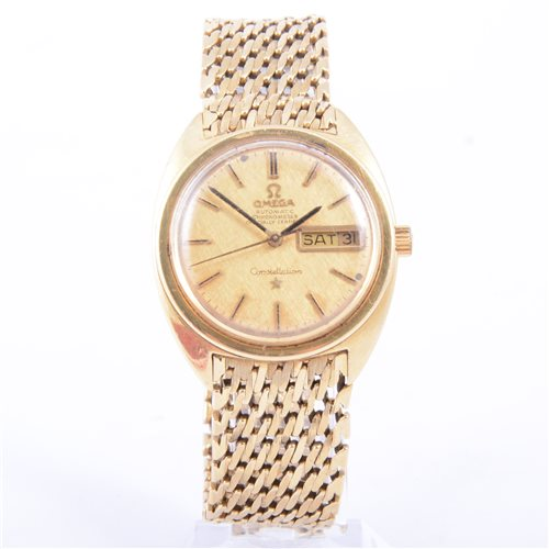 Lot 225-Omega - An 18 carat yellow gold gentleman's...