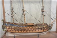 Lot 1061-Prize winning scale model boat of the 1690...
