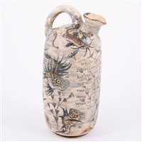 Lot 11-Martin Brothers, a good stoneware flagon, 1888,...