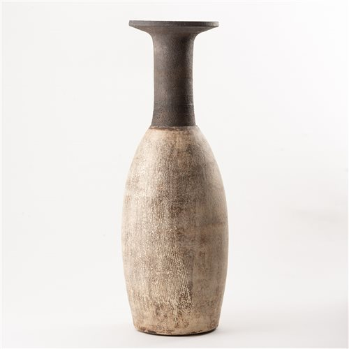 Lot 194-Hans Coper, a large bottle form with broad flared ...