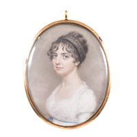Lot 44-John Smart Young Lady, bust length, in half...