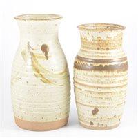 Lot 65-R. Collins, a studio pottery stoneware vase,...