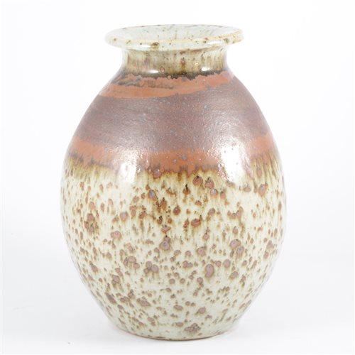 Lot 8-Barbara Cass, a stoneware studio pottery vase,...