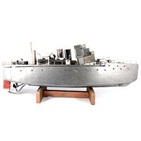 Lot 81-Live steam powered fighting war ship, fitted...