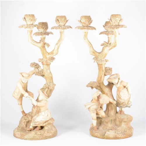 Lot 35-Pair of Royal Worcester 'two-figure' three...