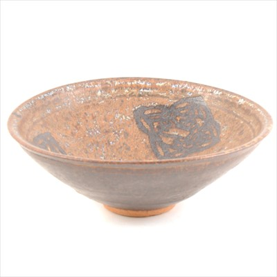 Lot 40-Chinese stoneware shallow bowl, possibly Song,...