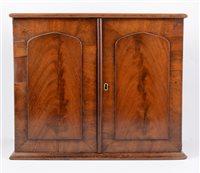 Lot 101-Victorian mahogany table cabinet