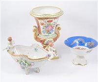 Lot 55-Le Tallec French porcelain campana shape vase; Limoges boxes, and other porcelain.