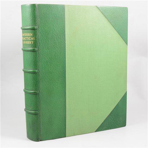 "Lot 87-W J Miles, ""Modern Practical Farriery"", one volume."