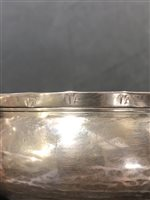 Lot 29-French style single handle silver porringer, makers mark IA, possibly Jersey, late 17th century.