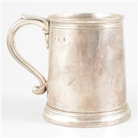Lot 86-Queen Anne Britannia Standard mug, Thomas Parr, London, 1704.