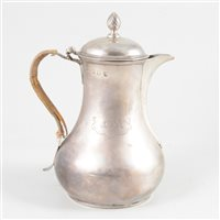 Lot 75-George II silver water pot, Benjamin Gignac, London, circa 1750.
