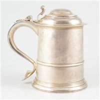 Lot 85-George I Britannia Standard tankard, Humphrey Payne, London, circa 1716.