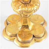 Lot 16-AMENDMENT: Gilt metal chalice, Laibach/Ljubljana, probably 17th century.