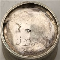 Lot 23-Continental silver gilt beaker, maker's mark only AAH, probably late 18th century.