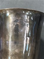 Lot 47-French silver chalice, maker's mark only partially struck, Paris, circa 1780.