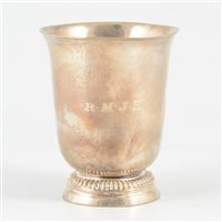 Lot 32-French silver beaker, Sainte Menehould, circa 1750-60.