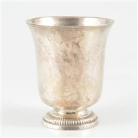Lot 33-French silver beaker, Orleans, circa 1750.