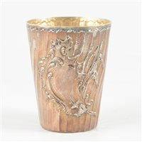 Lot 34-Rococo Revival silver beaker, France, 800 Standard, post 1838.