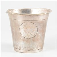Lot 2-Danish silver beaker, maker's mark AHS, Copenhagen, 1769.