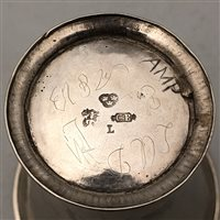 Lot 3-Finnish silver beaker, maker's mark CB, possibly Loviisa, circa 1800.