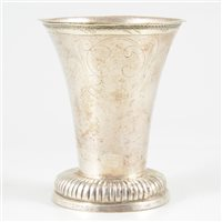 Lot 7-Swedish silver beaker, Sven Wallman, Göteborg, 1700.