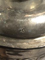Lot 115-Commonwealth period chalice and paten, single punched mark of star/floret only