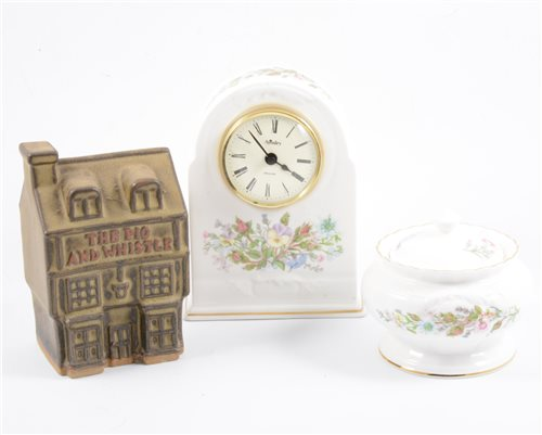 Lot 12-A collection of Tremar Pottery money boxes, and various Aynsley china wares