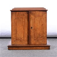 Lot 83-Victorian walnut table cabinet