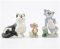 Lot 94-Three early Wade figures, Tom & Jerry, and Burslem the Factory Cat