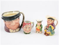Lot 100-Collection of fifteen Toby jugs