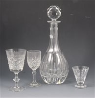 Lot 77-A quantity of Edinburgh Crystal and other cut glassware