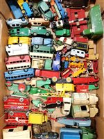 Lot 117-Large quantity of Dinky, Corgi and Matchbox die-cast cars and vehicles