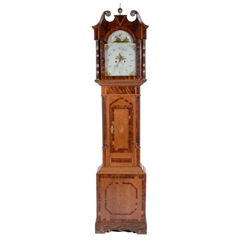 Lot 217-William IV mahogany longcase clock