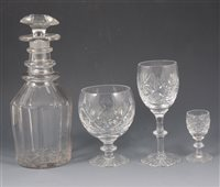 Lot 61-Suite of Webb Corbett lead crystal, together with other crystal ware.